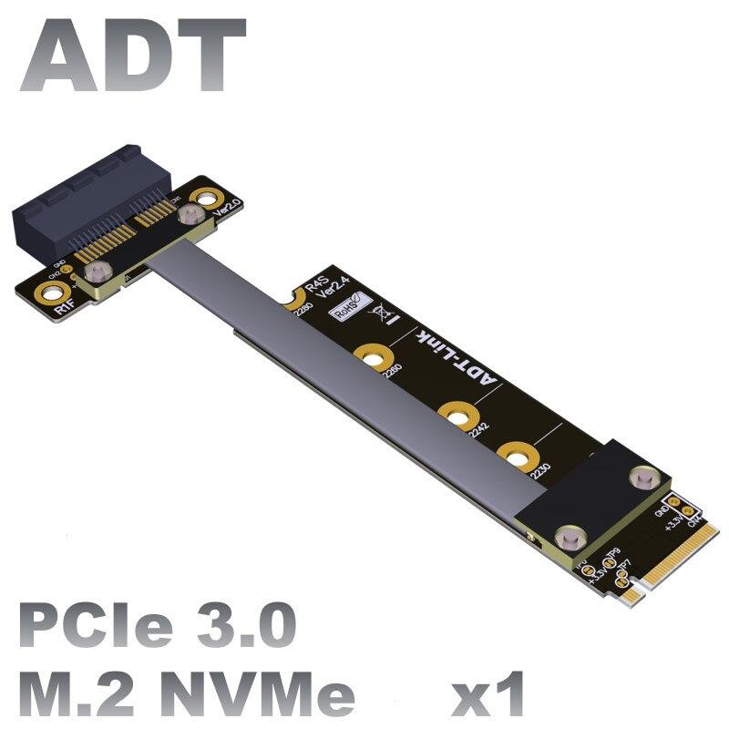 M.2 nvme mkey para pcie 3.0x1 pcie cabo de extensão para nvme ssd conversor adaptador