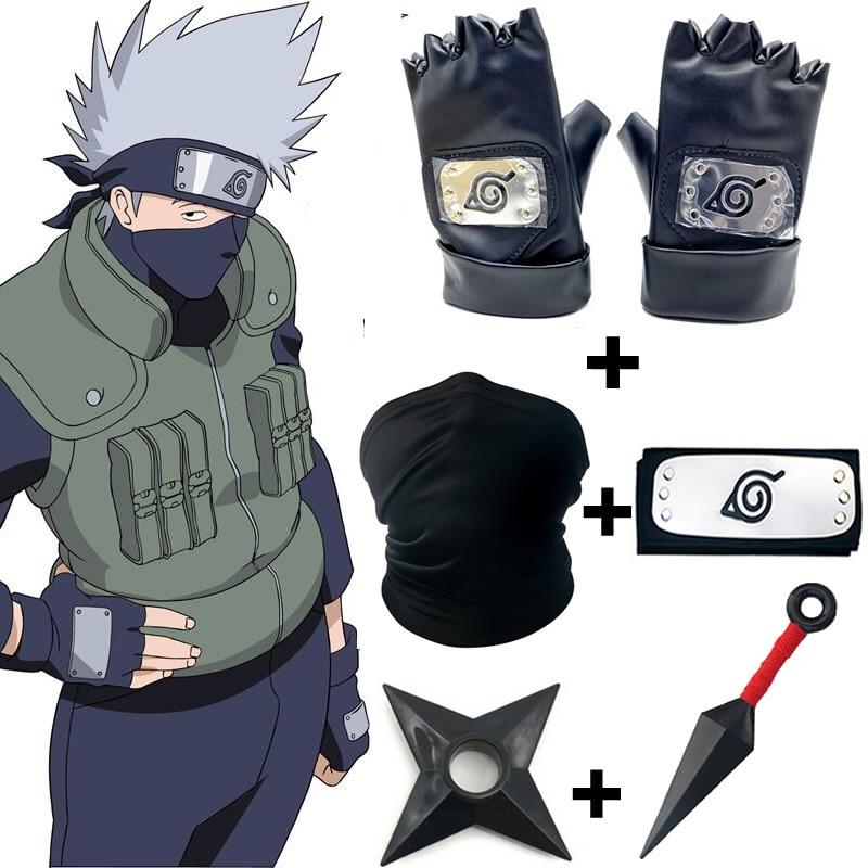 5 шт./комплект, детские перчатки для косплея Какаси из аниме «Наруто»