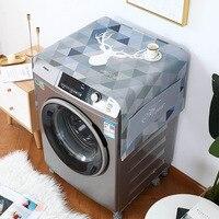 Nordic Wind Single Door Fridge Cover Refrigerator organizer Drum Washing Machine cover Dust Cover Household Decor