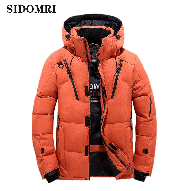 Winter men's down jacket 90% white duck down coat thicken warm coat light and fluffy material fashion  casual  windbreaker