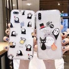 Original Miyazaki Hayao ghibil Totoro Chihiro No cara suave funda de silicona para teléfono para iphone 11 Pro Max xr xs 8 7plus