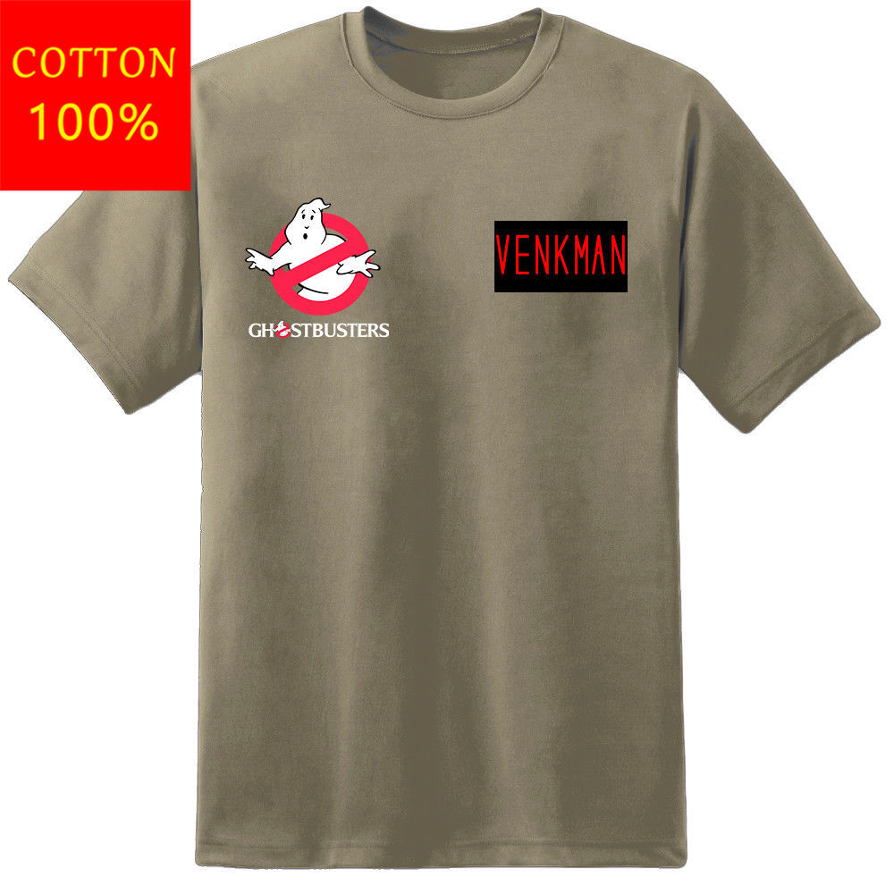Herren Ghostbusters Uniform Custom Name Patch T Hemd Proton Pack Venkman Stantz Kühlen Casual Stolz T Hemd Männer Unisex Neue