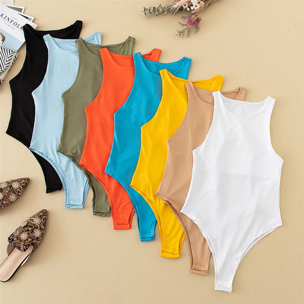 2021 New Summer Autumn Jumper Body suit Women Casual  Slim Beach  Jumpsuit Romper Girl Bodysuit Solid Brand Suit