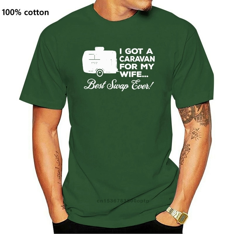 New Caravan For My Wife Mens Funny Caravanning T-Shirt Camping Toeing Holiday Awning