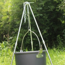 Tragbare Hängen Topf Outdoor Camping Picknick Kochen Stativ Durable Lagerfeuer Picknick Topf Guss Feuer Grill Hängen Stativ