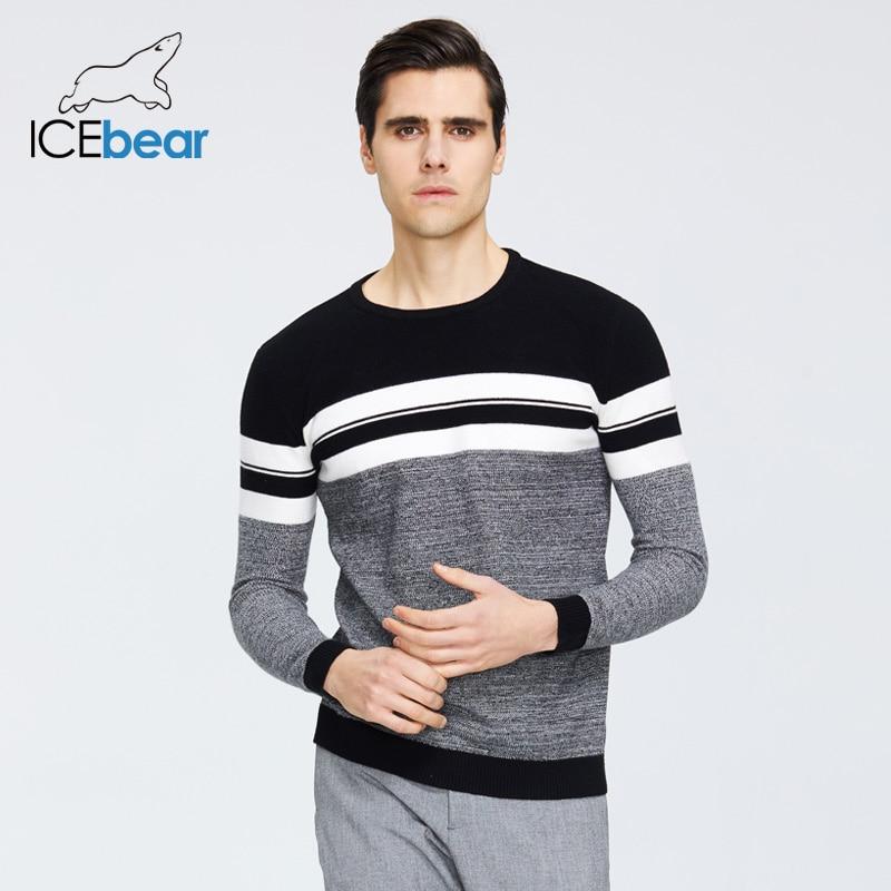 ICEbear 2019 otoño nuevo suéter masculino Casual pulóver para hombres ropa de marca 1723