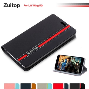 Cowboy PU Leather Phone Bag Case For LG Wing 5G Flip Case For LG Wing 5G Business Case Soft Silicone Back Cover