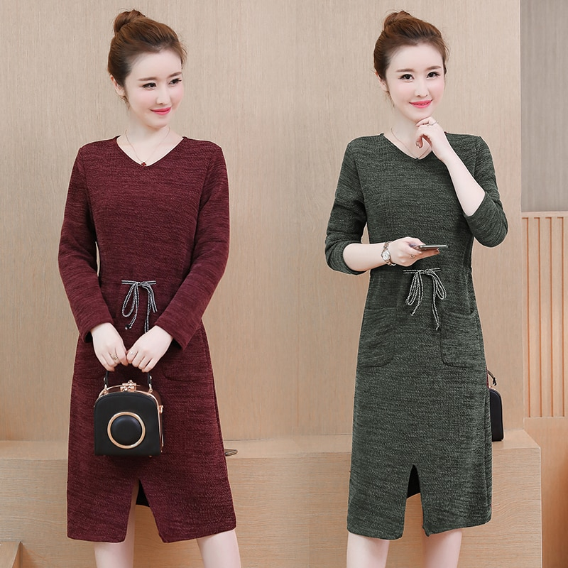 Mujeres talla grande XL-5XL vestido XXL XXXL 3XL XXXXL 4XL fat blusa blusas slim Casual suelto otoño vestidos para mujer