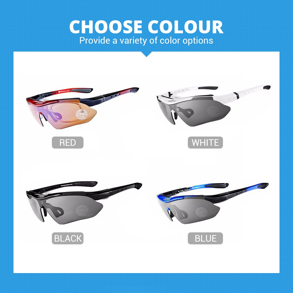 Hot! RockBros Polarized Cycling Glasses Cycling Sunglasses Outdoor Sport Road Bike MTB Men's Glasses TR90 Goggles Eyewear 5 Lens