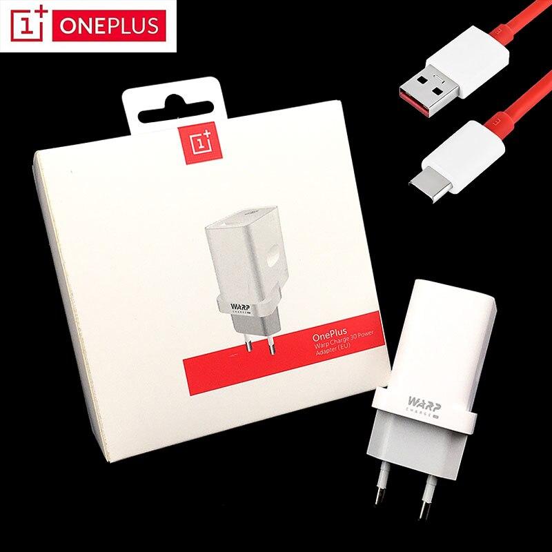 Original OnePlus 7T cargador pro de 30w de la UE/Warp adaptador de corriente de carga de 5V/6A 30 cargador 6A USB tipo c para una más 7 7 Pro