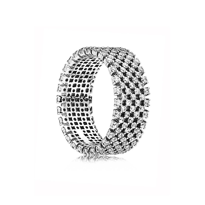 Ajax-anillo para dedo ancho para mujer, Plata de Ley 925, Micro pavé...