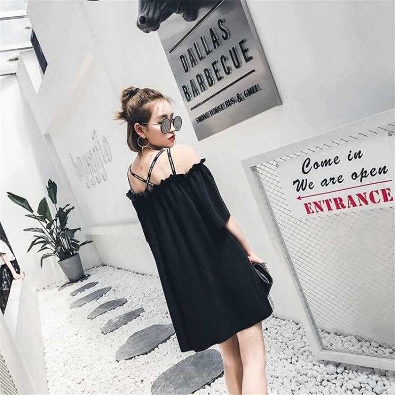 Schöne Mädchen Japanischen Stil Kleid Streetwear Urlaub Schwarz vintage Kleid Weibliche Frauen Sexy Japan Stil