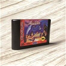 Aladdin этикетка США Flashkit MD Electroless Gold схема на основе печатной платы для игровой консоли Sega Genesis Megadrive