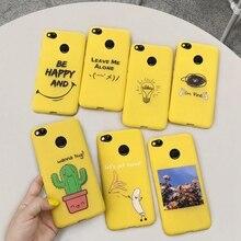 Étui de téléphone pour xiaomi redmi S2 4X 4A redmi 5 PLUS 5A 6 6A 7 7A NOTE 8 housse jaune drôle banane mignon dessin animé étuis Coque