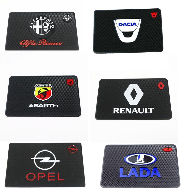Adesivo interior automotivo antiderrapante, tapete para renault opel saab daewoo alfa romeo, acessórios para painel