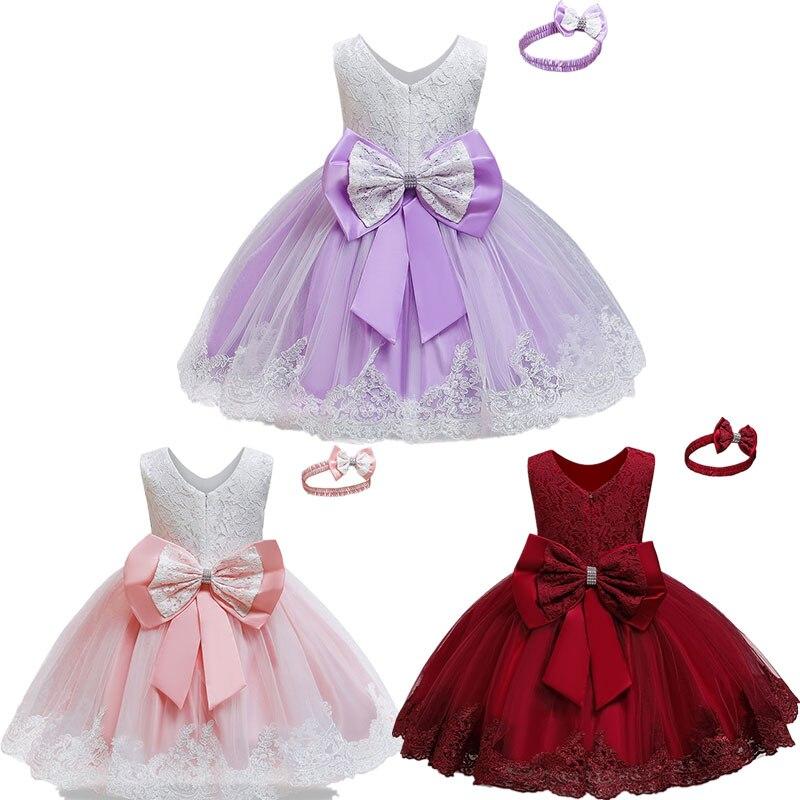 Платье для маленьких девочек, фиолетовые платья с вышивкой для маленьких девочек 12 мес., 3, 5 лет, одежда, вечернее платье, платья принцессы, платья