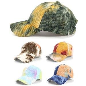 New Sun Hat Men's Hat Corduroy Tie-dye Baseball Cap Fashion All-match Curved Brim Women's Hat Cap