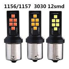 2 pièces couleurs P21W BA15s 1156 LED Canbus feu de recul feu de recul lampe de signalisation feux de voiture accessoires de voiture