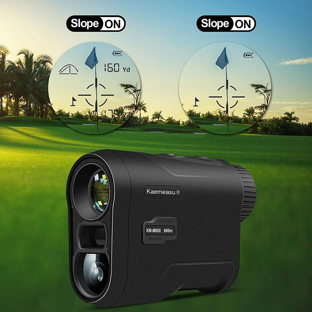 Golf Range Finder Devices KM-M450 with Slope Outdoor Mini Golf Rangefinder Handheld 6X Magnification USB Chargeable Rangefinder