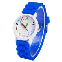 Fashion Children Kids Arabic Numerals Pencil Analog Display Quartz Wrist Watch