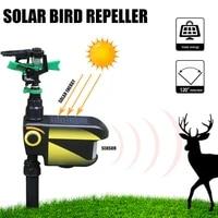 upgraded solar powered motion activated animal away sprinkler water jet blaster animal pest repellergarden scarecrow deterrent