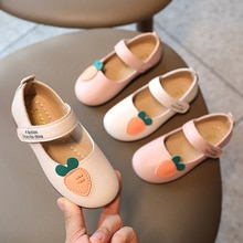 New Fashion Girls Single Shoes Spring Autumn Cute Cartoon Children's Leather Shoes Soft-Soled Baby S
