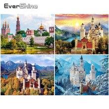 EverShine peinture avec diamants plein château carré nouveautés château point de croix diamant Art perle broderie décoration murale