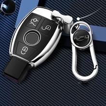 2020 nouveau porte-clés coquille souple pour voiture Mercedes Benz CLS CLA GL R SLK AMG A B C S classe couverture complète support pour télécommande accessoires