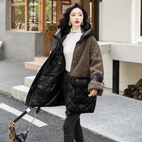 white real 90 wool coats duck womens down jackets warm parkas oversized women clothes abrigo mujer zjt854