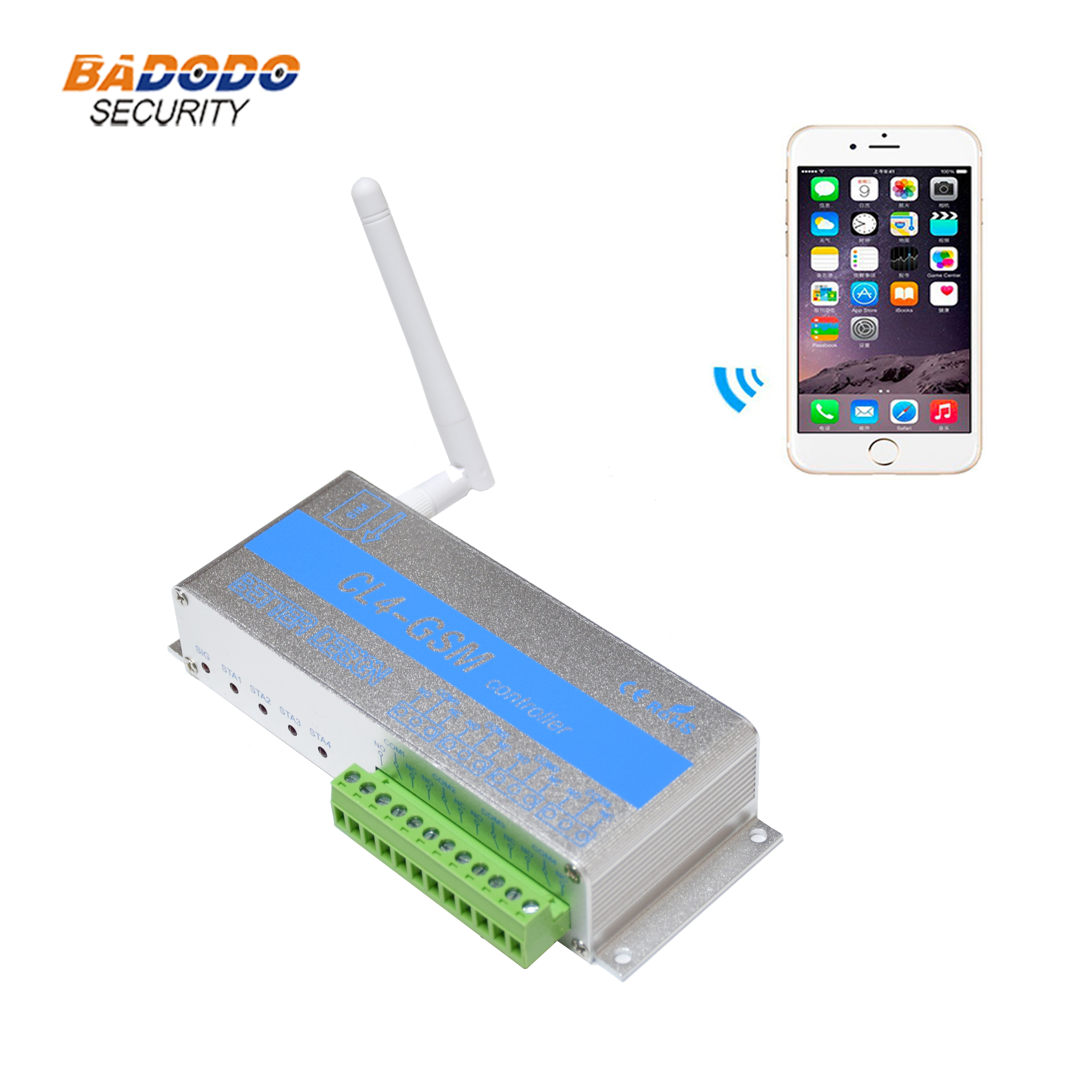 Módulo de Control Remoto GSM SMS inalámbrico CL4-GSM salida de relé de 4 vías para bloqueo eléctrico de motor de CA de alta potencia