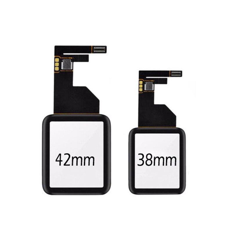 S1 tela exterior para apple assistir série 1 38 42 digitador do sensor painel de toque frontal display lcd para fora reparação vidro substituir peças