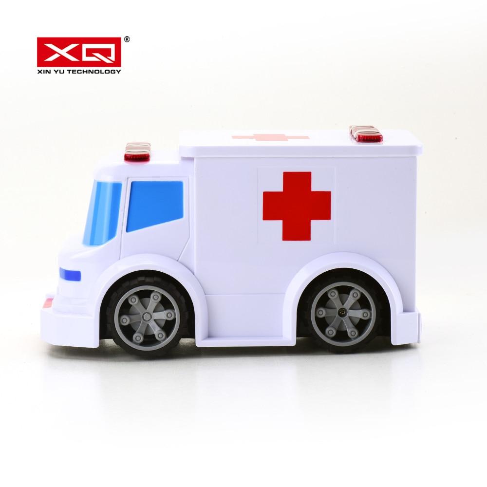 Xq 1/24 rádio controle remoto carro rc para controle de voz ambulância esporte carro de corrida brinquedos para crianças crianças adultos
