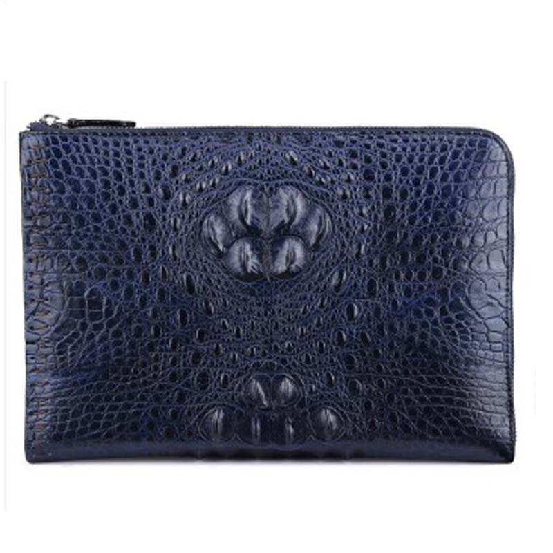 fasiqi new crocodile leather  men  crocodile clutch bag male envelope bag men bag