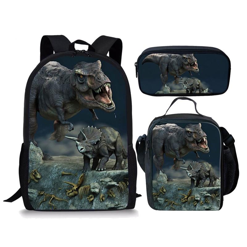 3 шт./компл. рюкзак Динозавр мир Дракон повседневные школьные сумки наборы для мальчиков девочек подростков Mochila Bolsa