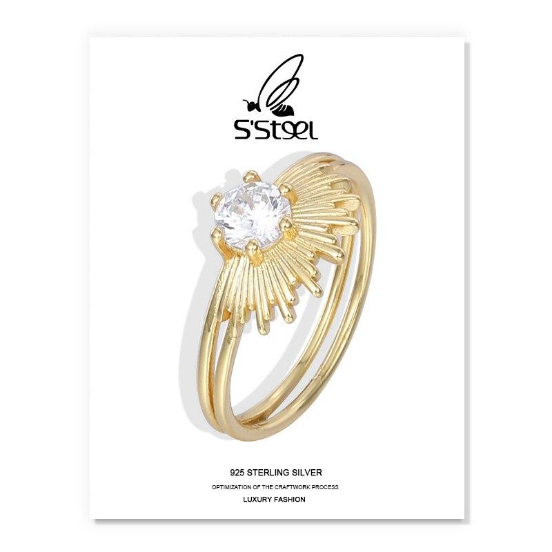 Anillos de doble cubierta de Plata de Ley 925 para Mujer, anillo...