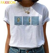 Van Gogh peinture à lhuile femme T-shirts femmes Van Goghing Van Gone drôle T-shirts 90s t-shirt graphique haut tendance T-shirts femme
