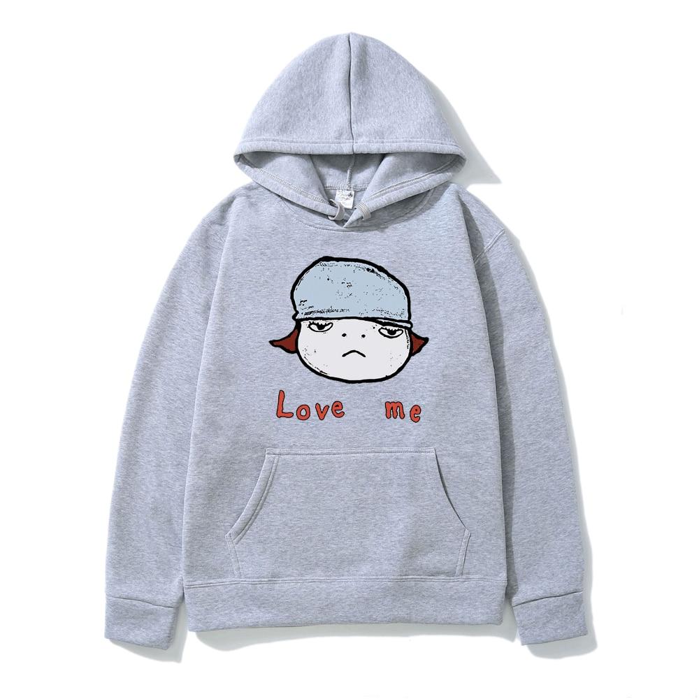 Yoshitomo Nara Love Men Print Hoodie Men Women Street Fashion Anime Hooded Sweatshirt Fall/winter Fleece Long Sleeve Pullover