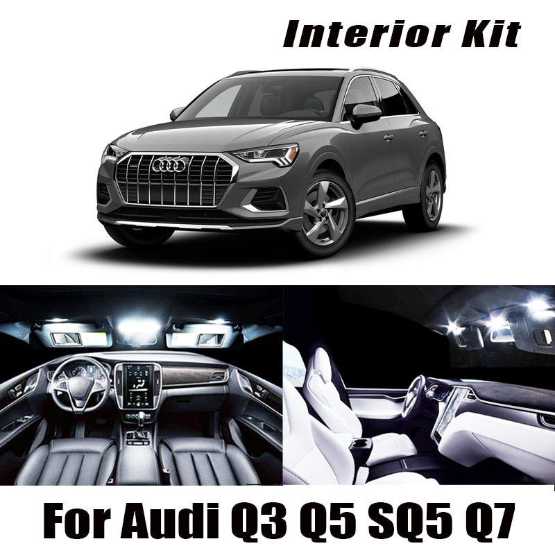 100% weiß Canbus Fehler Free LED glühbirne innen dome karte licht Kit für Audi Q3 Q5 SQ5 Q7 VOLL FÜHRTE innen Lichter KIT