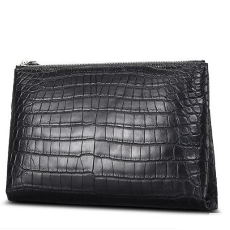 Cestbeau Nile crocodile belly  makes envelope bags for men  crocodile  leather hand bags men clutch bag