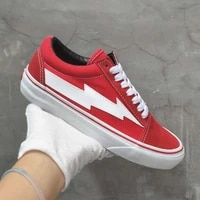 new hot top quality red revenge canvas shoes fashion vulcanized skateboarding shoes unisex men women black strom street sneakers