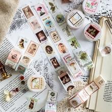 Vintage Postmark forêt thème papier décoratif Washi ruban adhésif ruban de masquage papeterie autocollant bâton étiquette