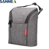 sanne 600d polyester oxford environmental aluminum film cooler insulated thermal bag ice mummy bottle ice pack can be portable