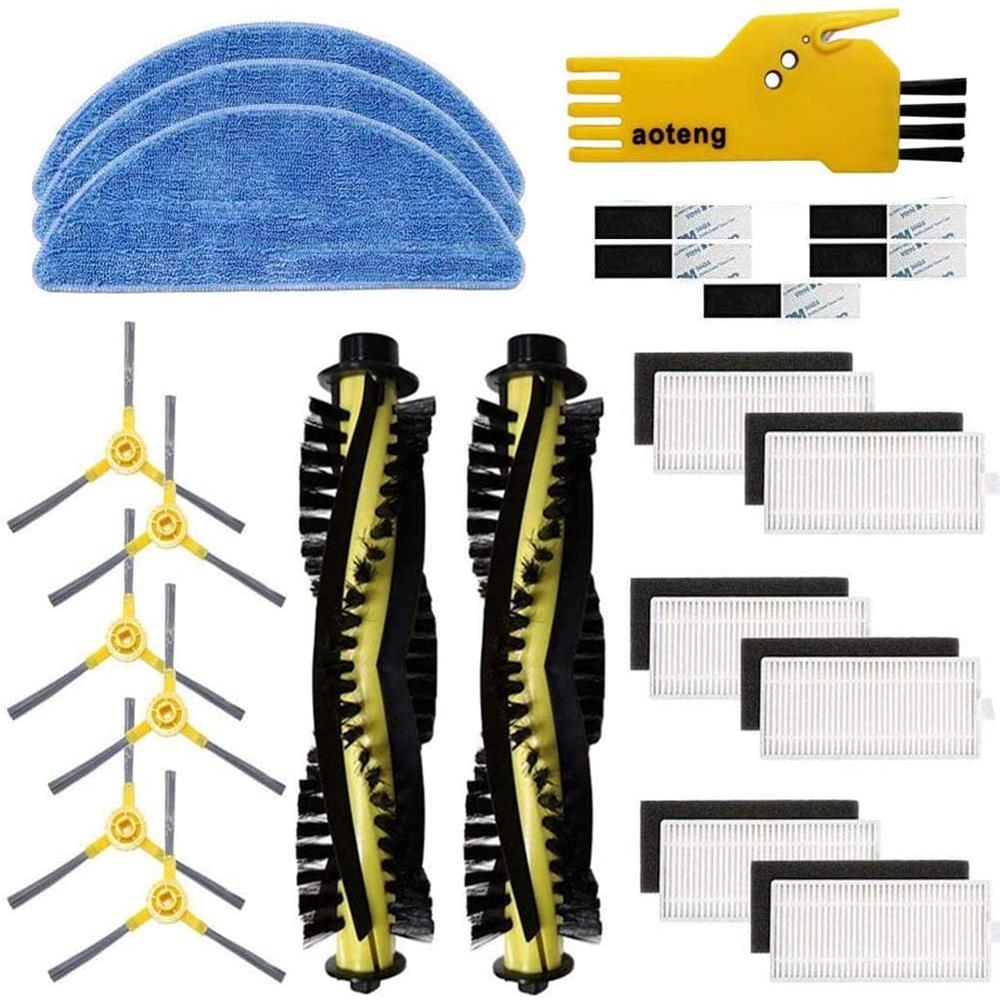 Kit de accesorios para Robot aspirador IKOHS Netbot S15, filtro HEPA, cepillo principal, piezas de repuesto, cepillos laterales, juegos de paño de mopa