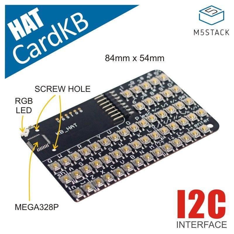 M5Stack официальный cardbb HAT ESP32 мини IoT макетная плата совместимая Hat Мини клавиатура блок грова IEC стержень pyton UIFlow