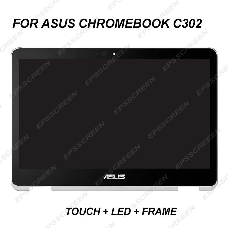 "REPUESTO nuevo 12,5 ""LED LCD pantalla para ASUS CHROMEBOOK C302 / C302CA FHD IPS táctil digitalizador asamblea de pantalla + bisel 30PIN"