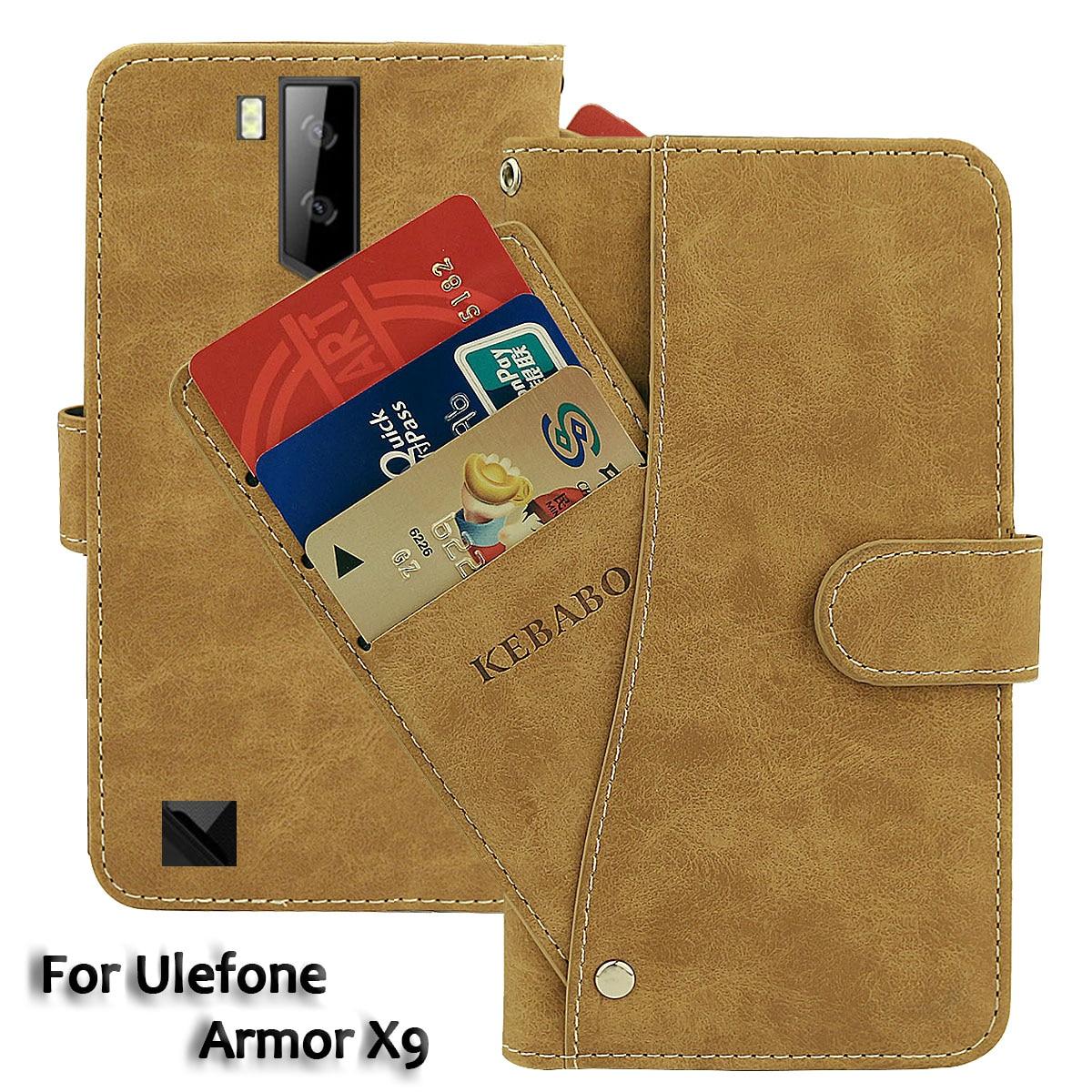 Vintage Leather Wallet Ulefone Armor X9 Case 5.5