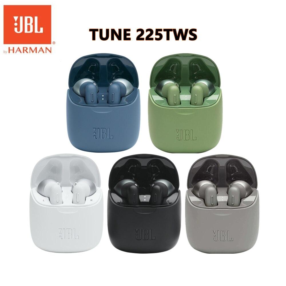 JBL Tune 225-auriculares TWS inalámbricos por Bluetooth T225, Auriculares deportivos de graves...