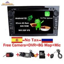 Lecteur GPS de voiture Android 10.0   Pour Opel Vauxhall Astra H G J Vectra Antara Zafira Corsa Vivaro Meriva Veda, Wifi, Bluetooth, RadioDVD