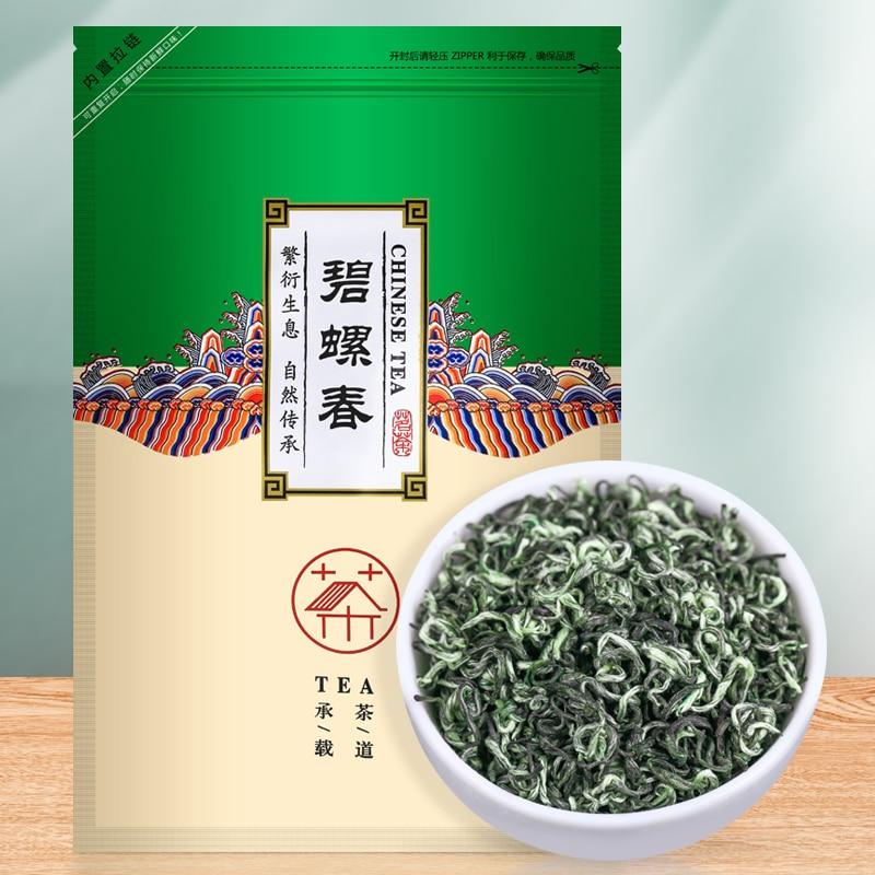 250G nuevo té Bilochun Verde té pre-primavera té pre-lluvia Dongting bolsa de té Tender Bud fuerte sabor a granel