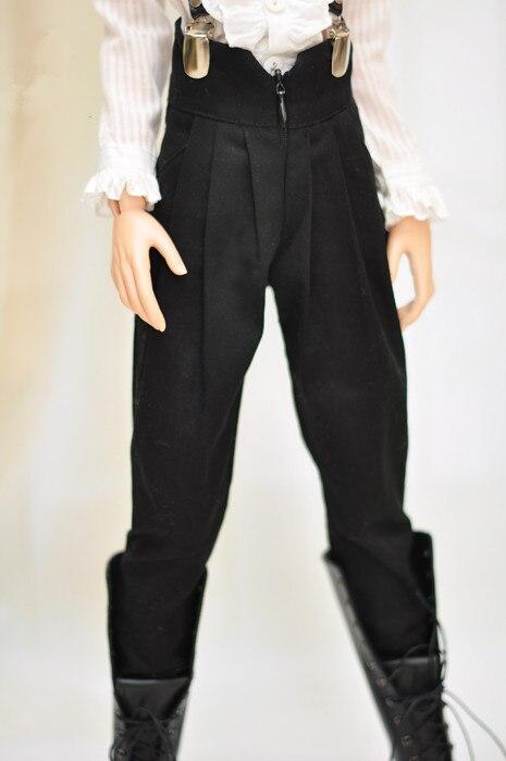 Ropa para muñeca BJD adecuado para 1/31/4 terciario popular negro clásico restaurar maneras antiguas de cintura alta haroun pantalones muñeca accesso